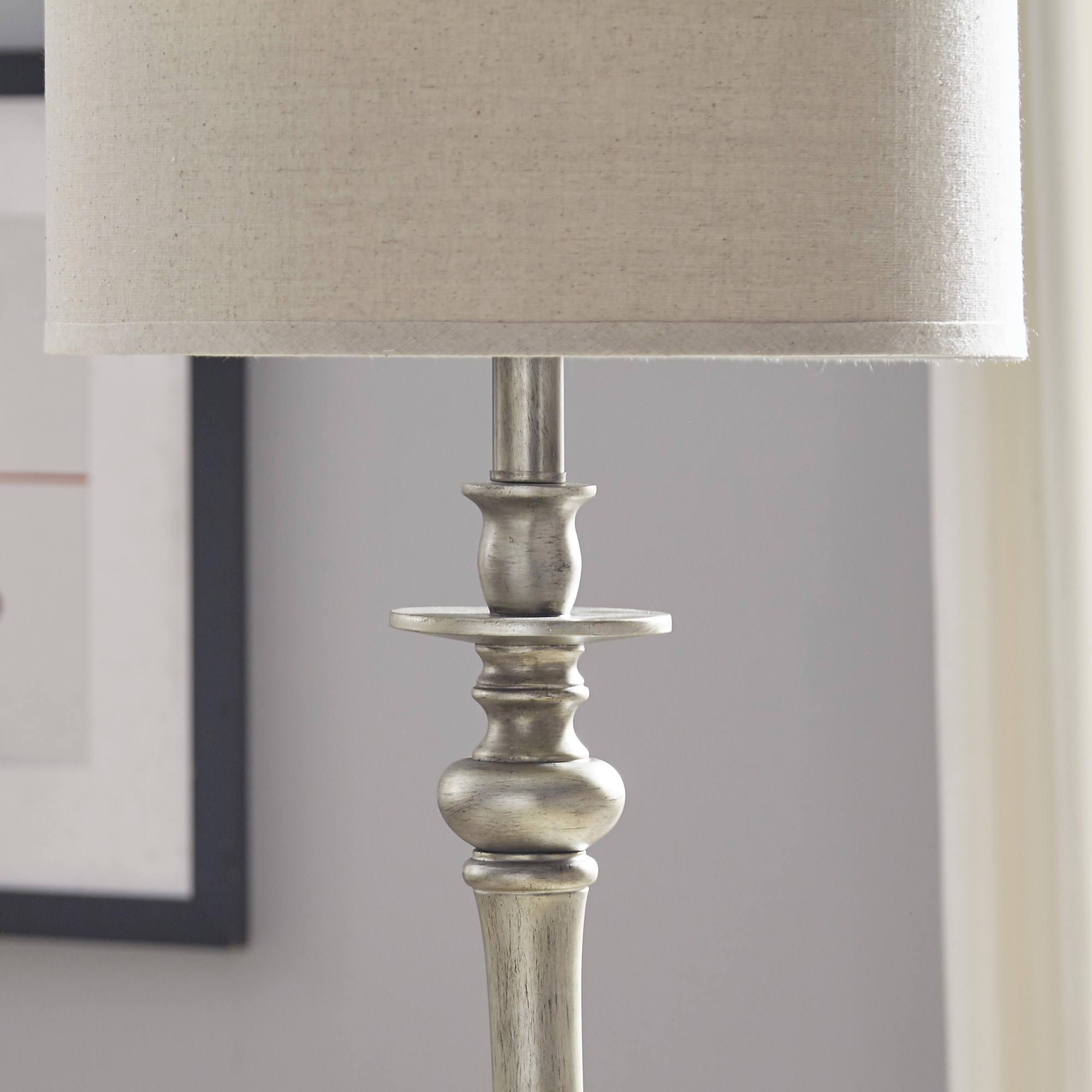 Isabelle Antique Silver Floor Lamp from INSPIRE Q by iNSPIRE Q Classic -  Free Shipping Today - Overstock.com - 21831158