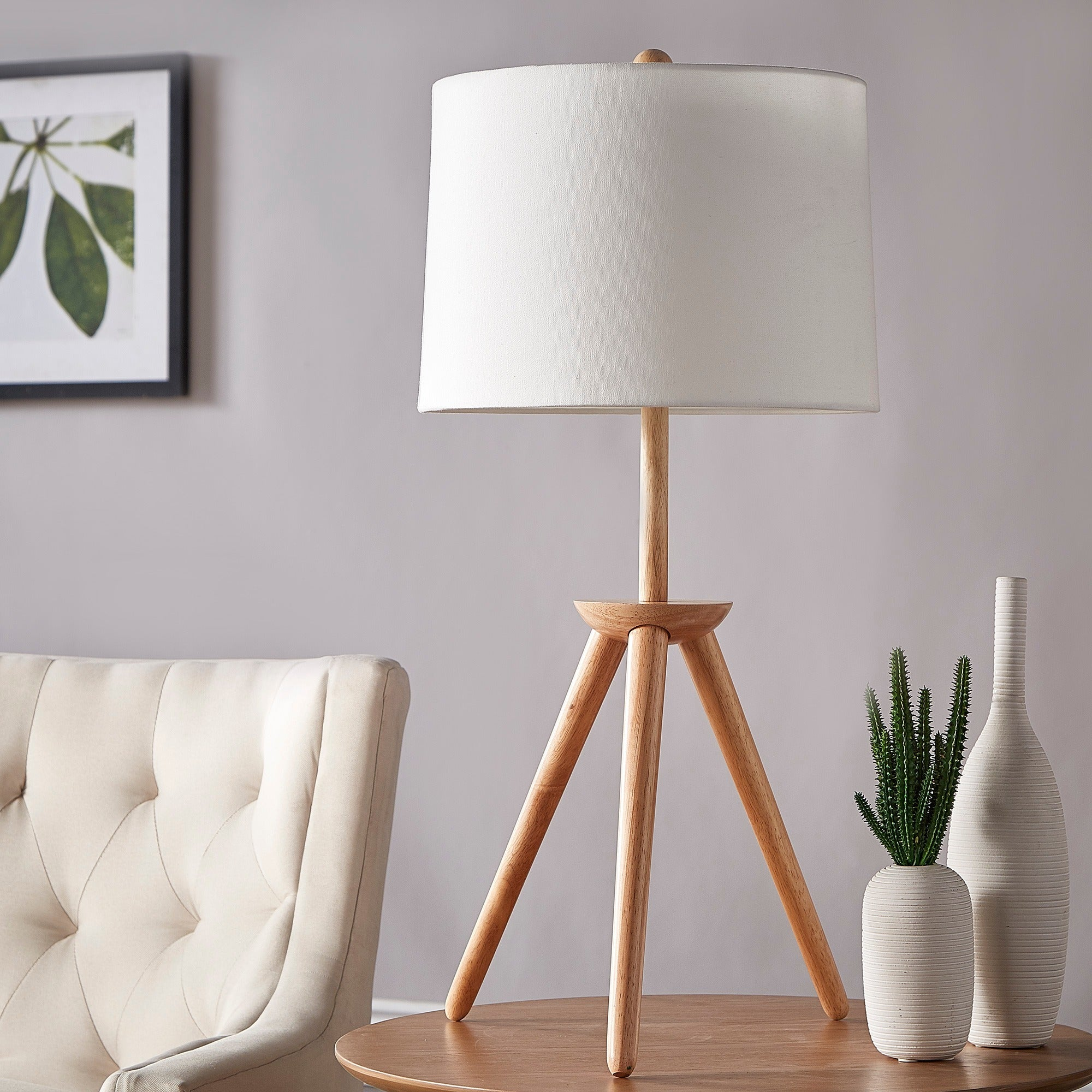 Shop Kendall Modern Wood Tripod Table Lamp Inspire Q Modern On