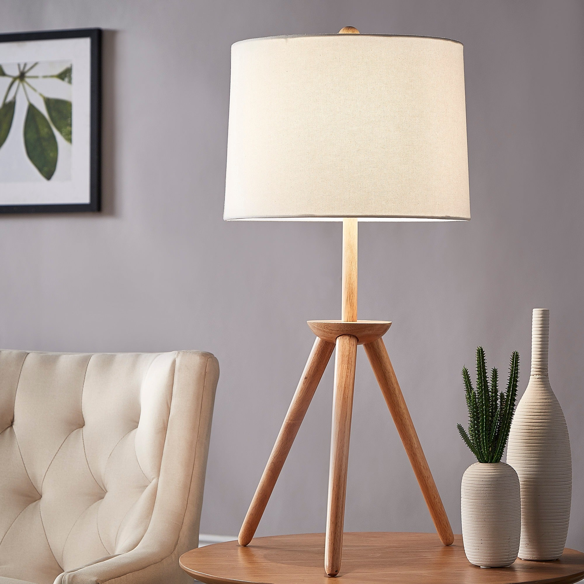 Kendall Modern Wood Tripod Table Lamp Inspire Q Free Shipping Today 15370960