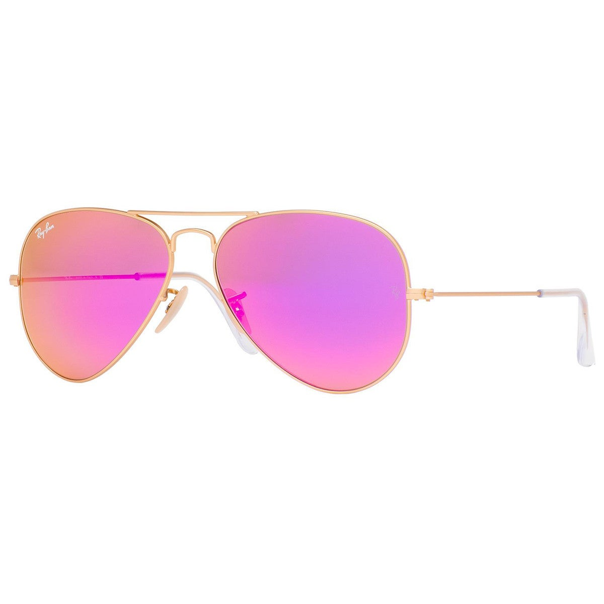 bfb279342f Ray-Ban Aviator RB3025 Unisex Gold Frame Cyclamen Flash 58mm Lens Sunglasses