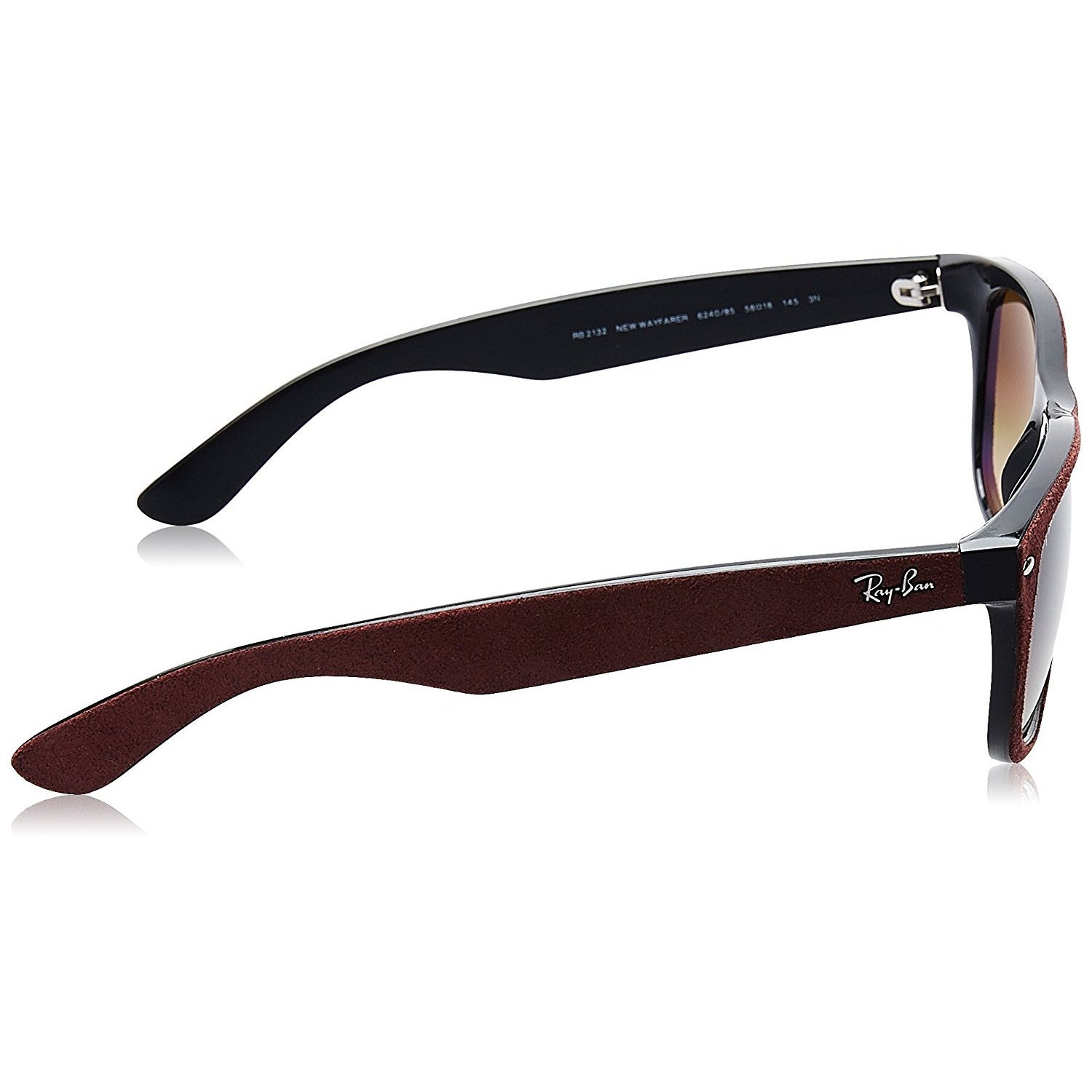 7bb89752434 Shop Ray-Ban New Wayfarer RB2132 Unisex Bordeaux Frame Brown Gradient 55mm  Lens Sunglasses - Free Shipping Today - Overstock - 15371415