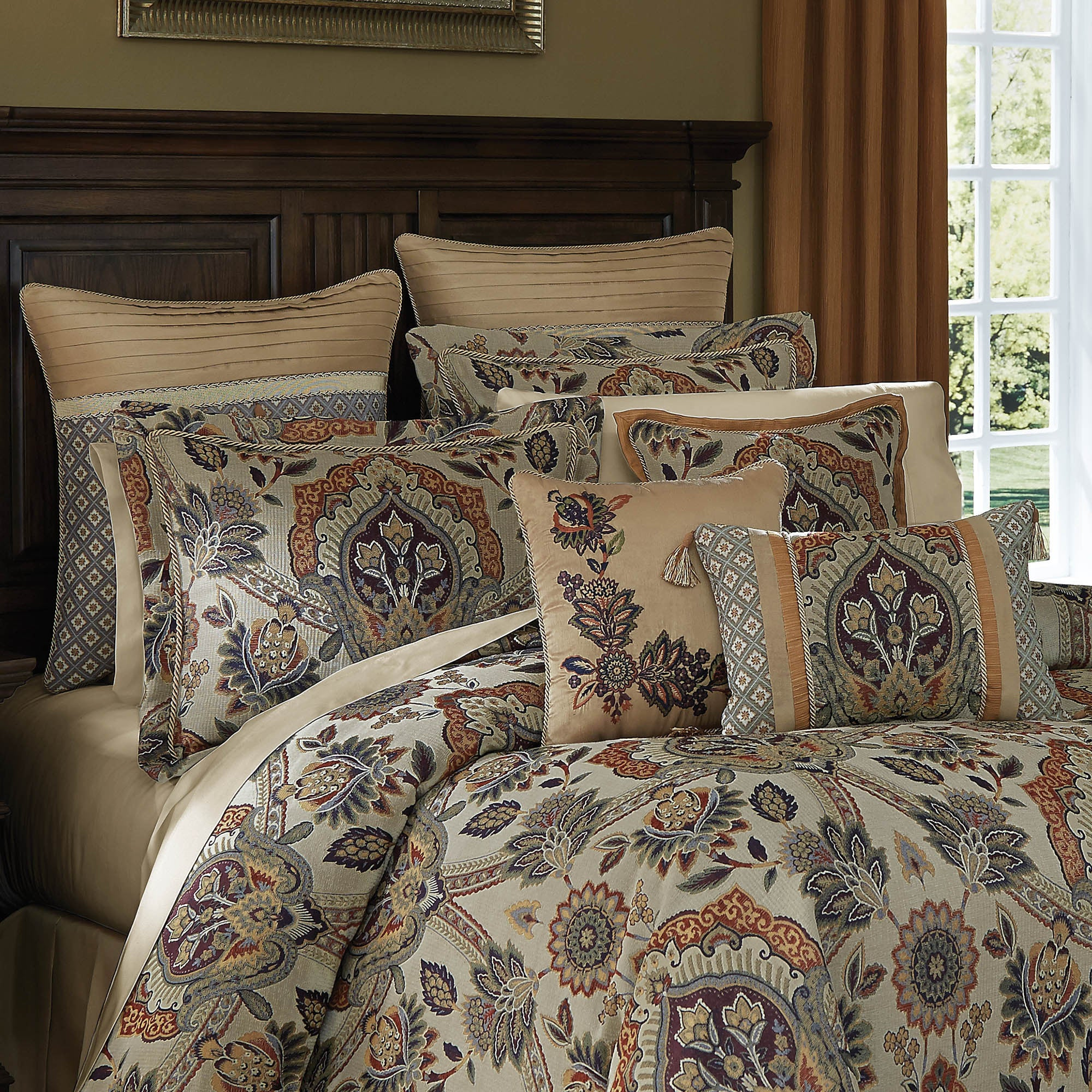 sets croscill pin by comforter blue bedding imperial indigo