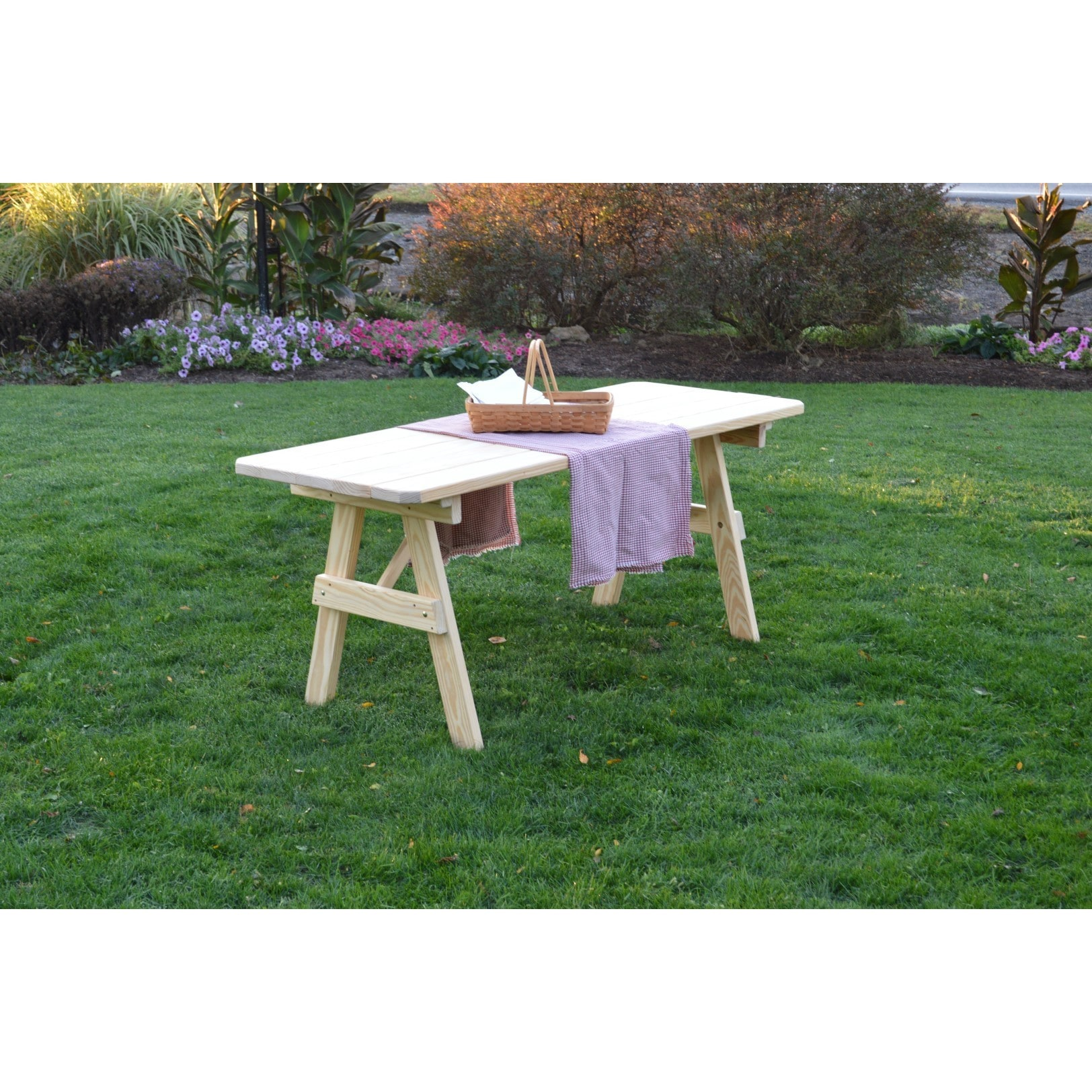 Ordinaire Shop Pressure Treated Pine Unfinished Picnic Table ONLY   4,5,6 Or 8 Foot    Free Shipping Today   Overstock.com   15371580