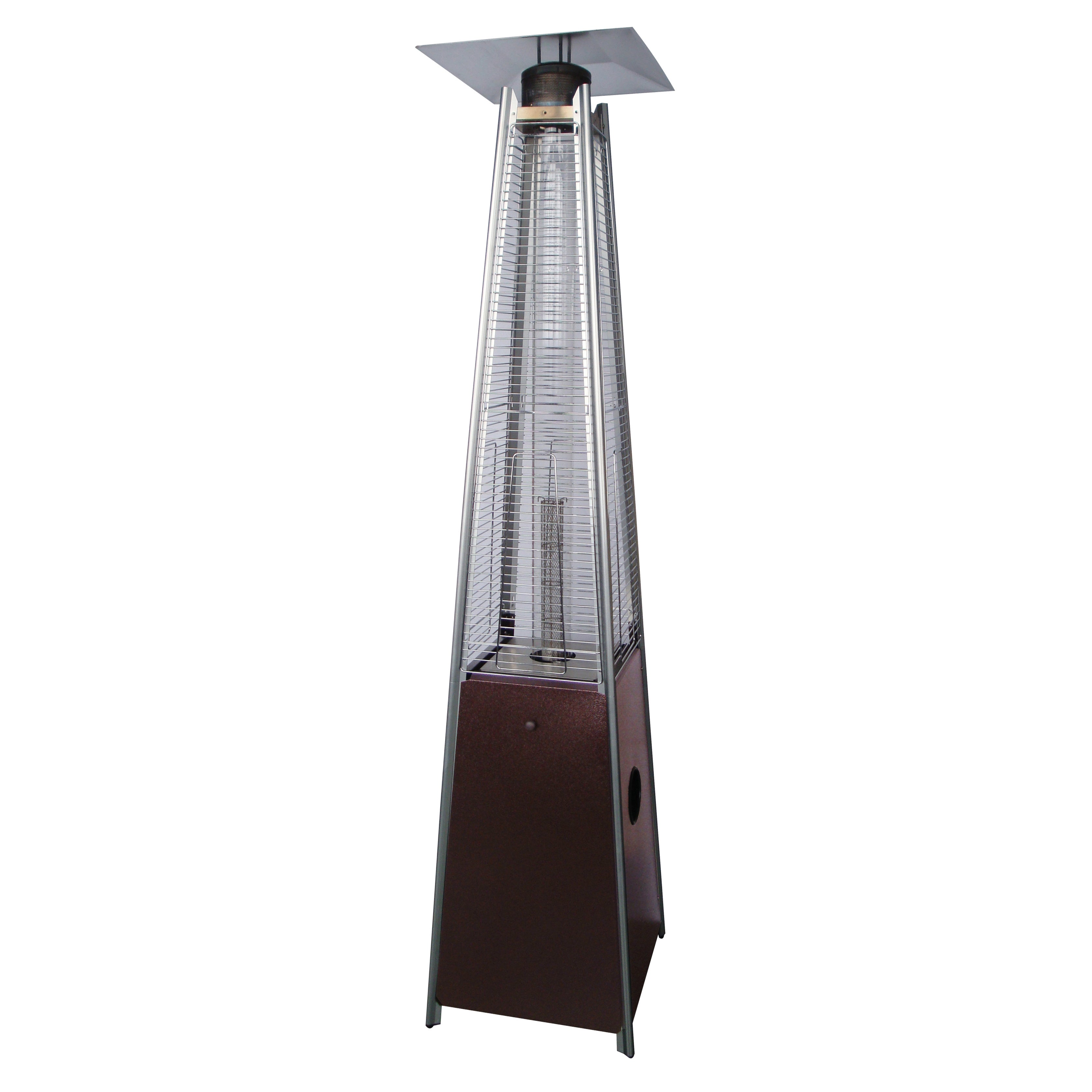 Hiland mercial Glass Tube Hammered Bronze Patio Heater Free