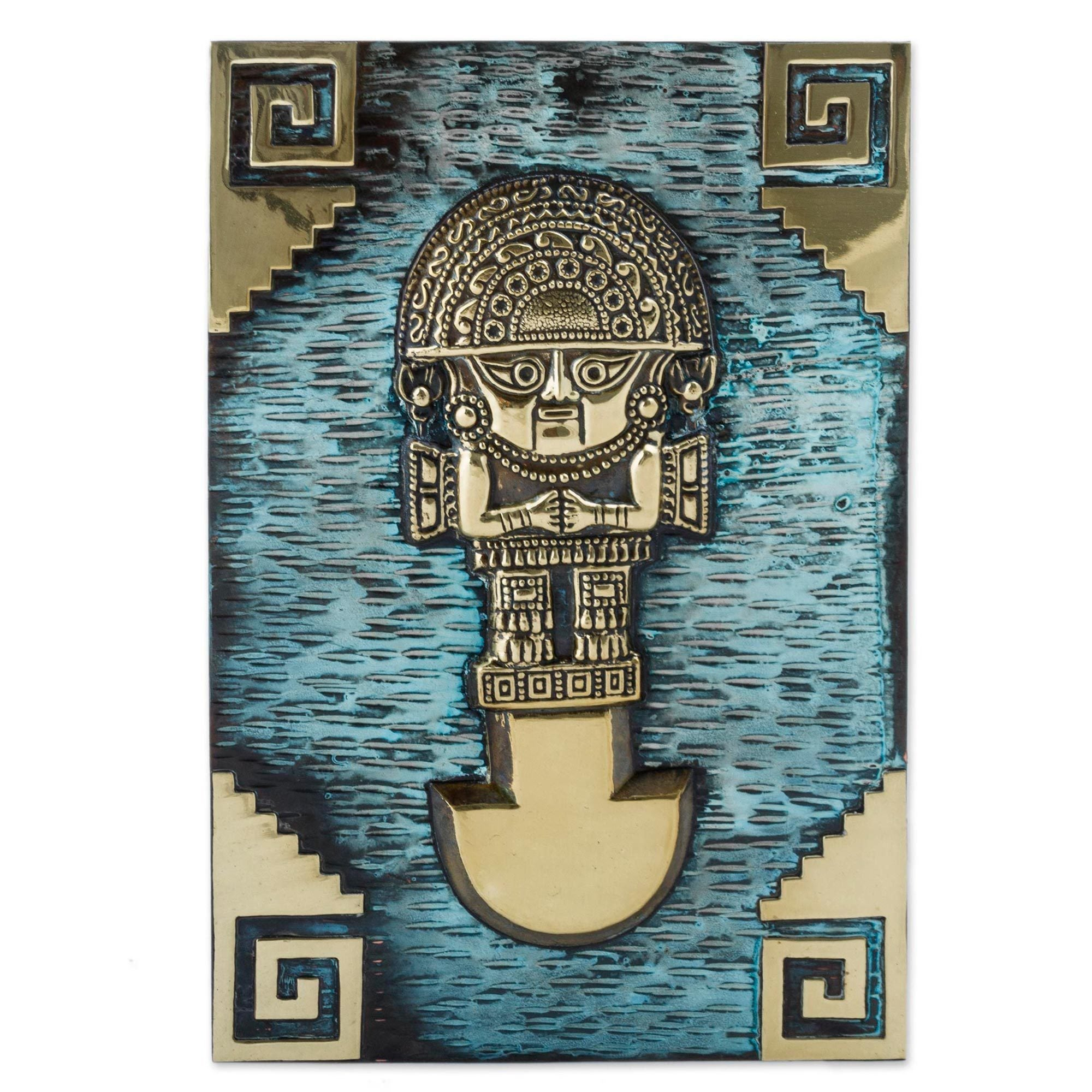 Shop Bronze and Copper Wall Art, \'Andean Tumi Warrior\' (Peru) - On ...