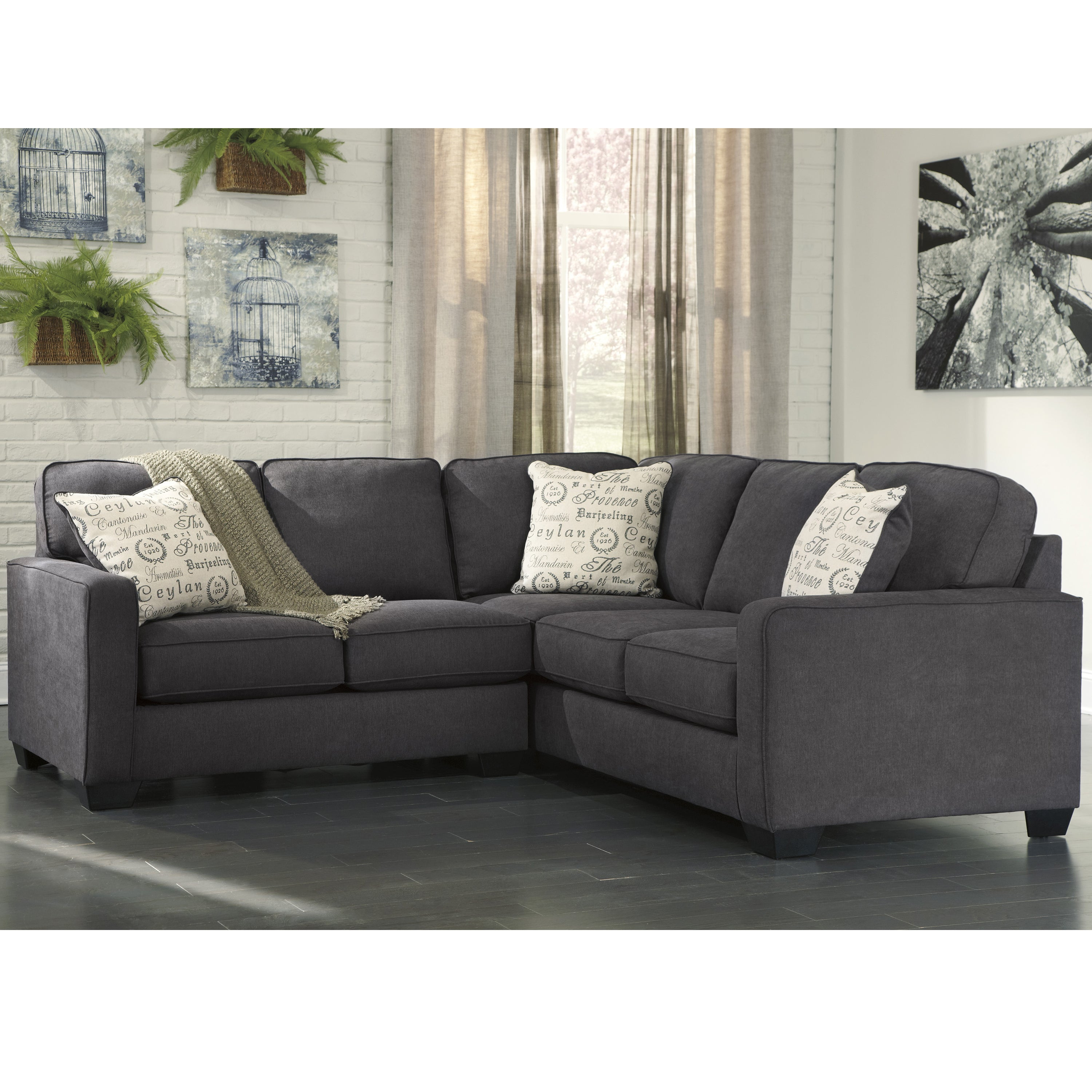 Signature Design By Ashley Alenya 2 Piece Sofa Sectional In Microfiber Free Shipping Today 15372080