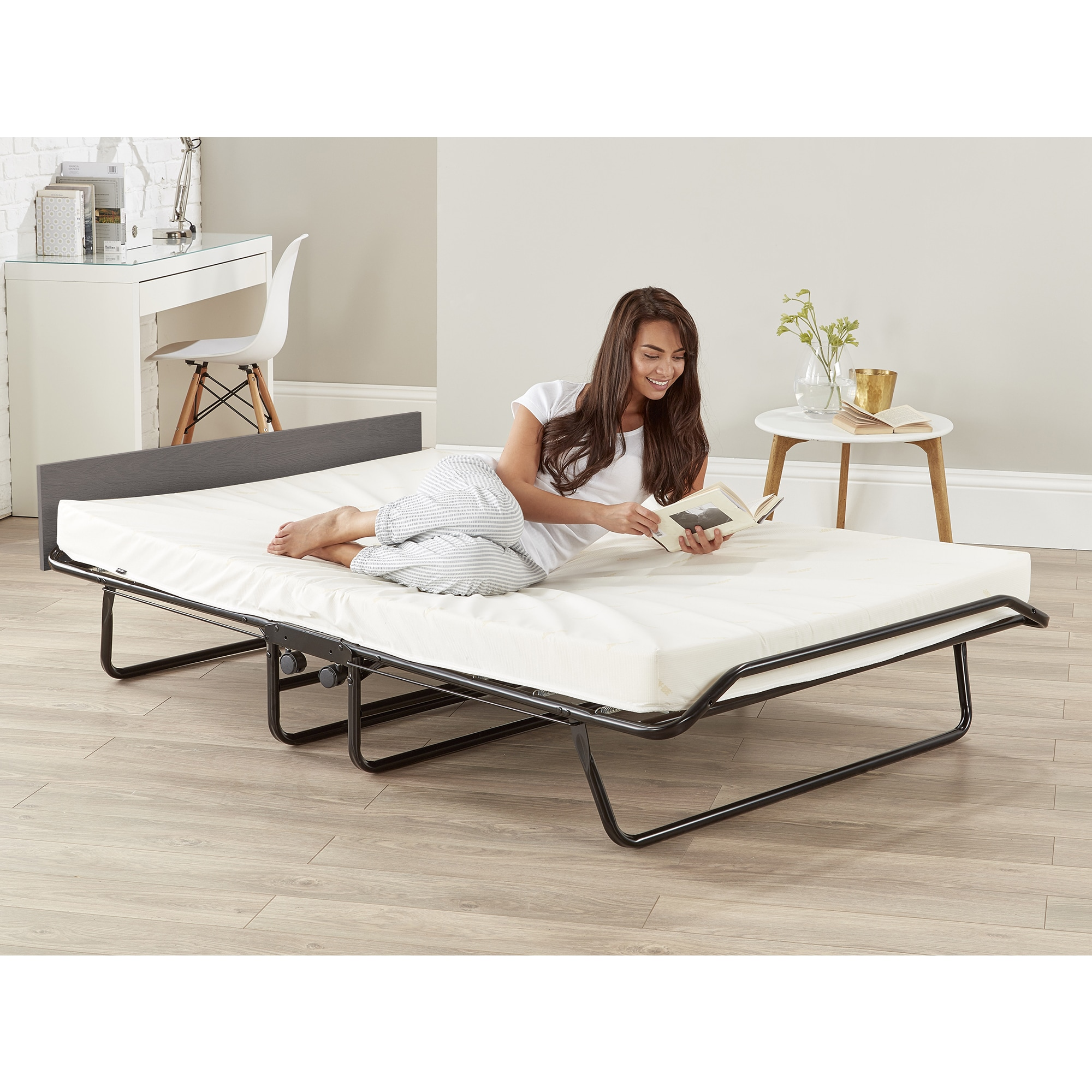 fe88aa208ab Shop JAY-BE Visitor Oversize Folding Bed with Airflow Memory Foam Mattress  - Free Shipping Today - Overstock - 15372155