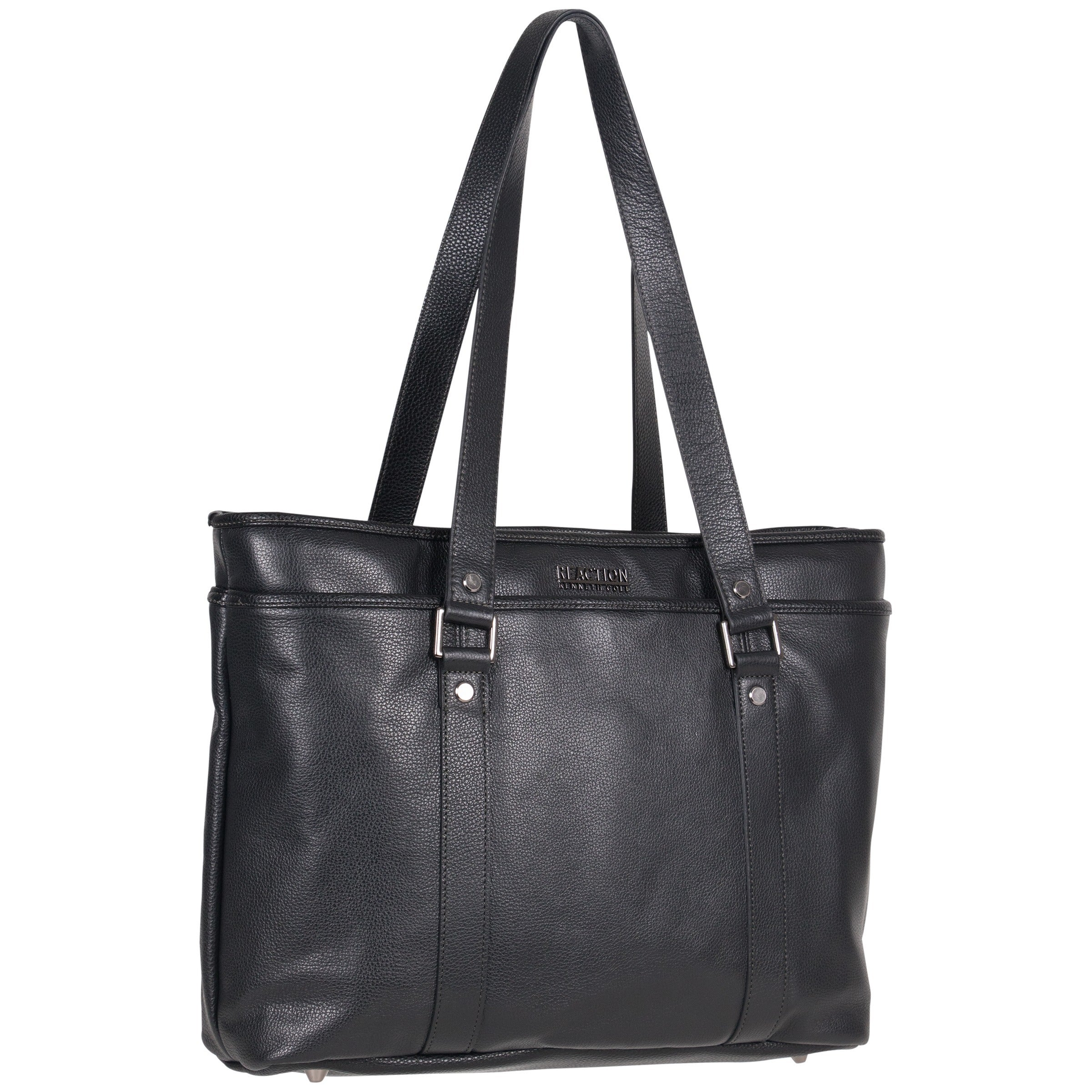 Shop Kenneth Cole Reaction Downtown Darling Genuine Pebbled Leather Top Zip  16-inch Laptop Tote Bag - Free Shipping Today - Overstock - 15377678 ea9c583b4995d