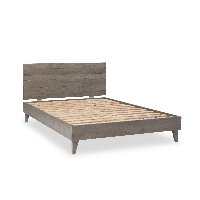 Shop Industrial Barnwood Platform Bed Frame and Headboard - On Sale ...