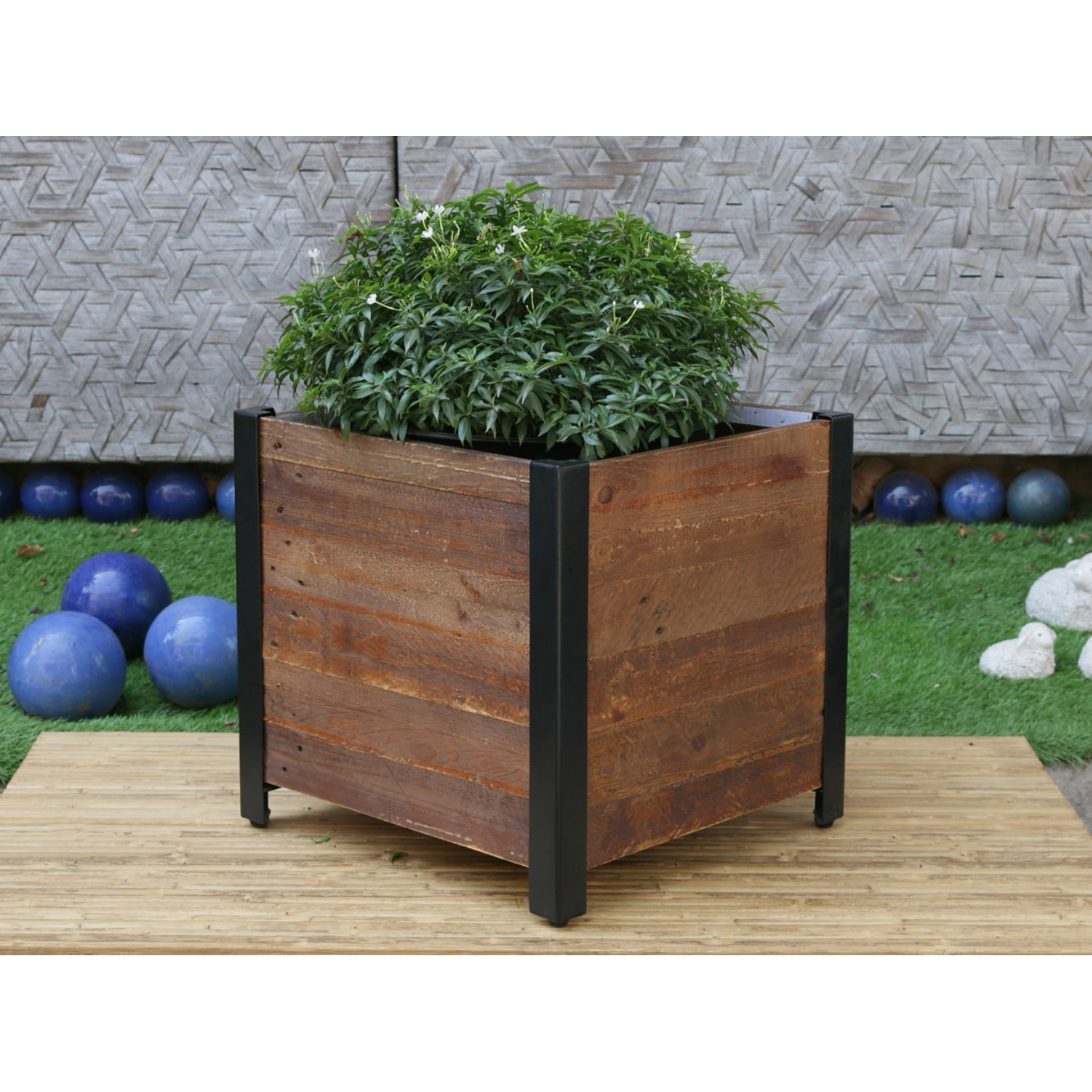 Shop Square Wooden Planter Box - On Sale - Free Shipping Today ...