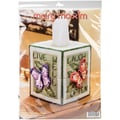 "Butterfly Tissue Box Plastic Canvas Kit-5"" 7 Count"