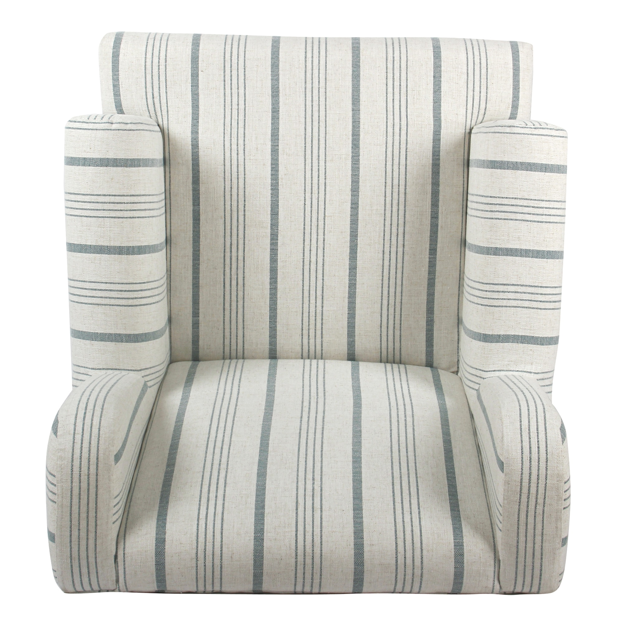 Beige Accent Chairs With Blue Stripes.Homepop Emerson Rolled Arm Accent Chair Blue Calypso Stripe
