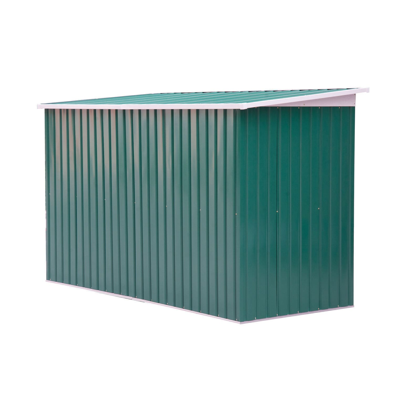 Outsunny Outdoor Green/White Metal 9\' x 4\' Garden Storage Shed ...