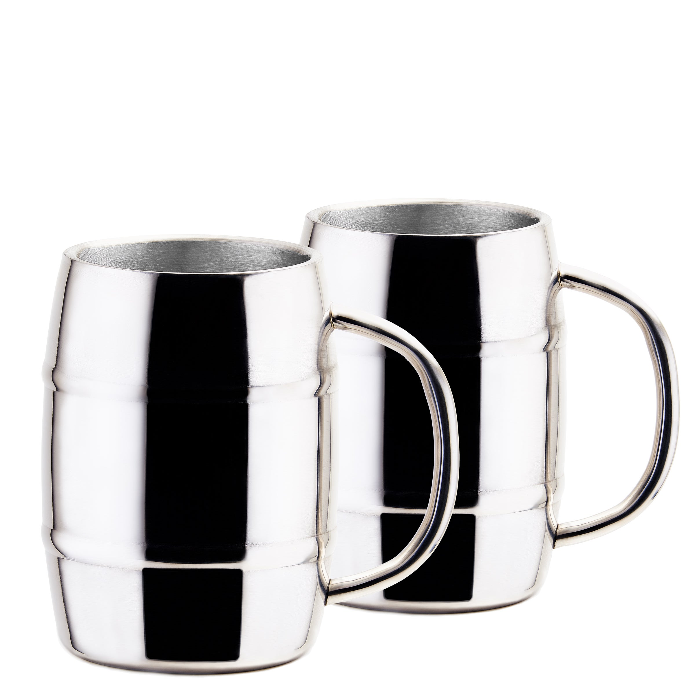 79a008ad33b Shop Jumbo KeepKool® 33.8 Oz. Double Walled Stainless Steel Mugs, Set of 2  - Free Shipping On Orders Over $45 - Overstock - 15390752