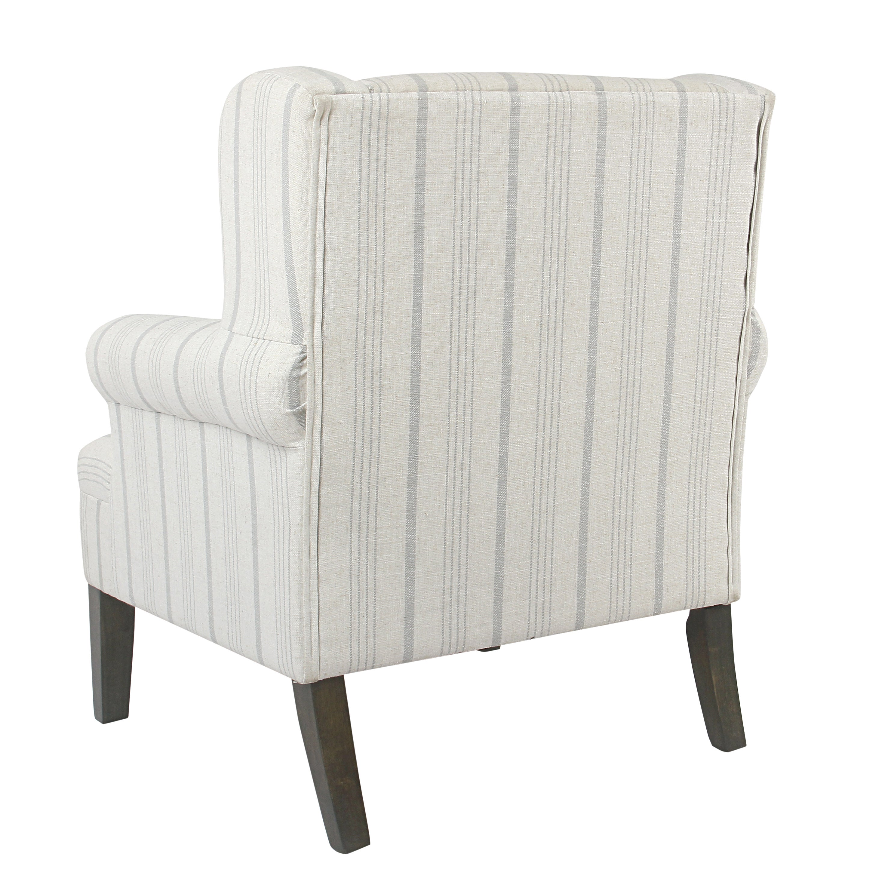 Superieur Shop HomePop Emerson Rolled Arm Accent Chair   Dove Grey Stripe   Free  Shipping Today   Overstock.com   15390809