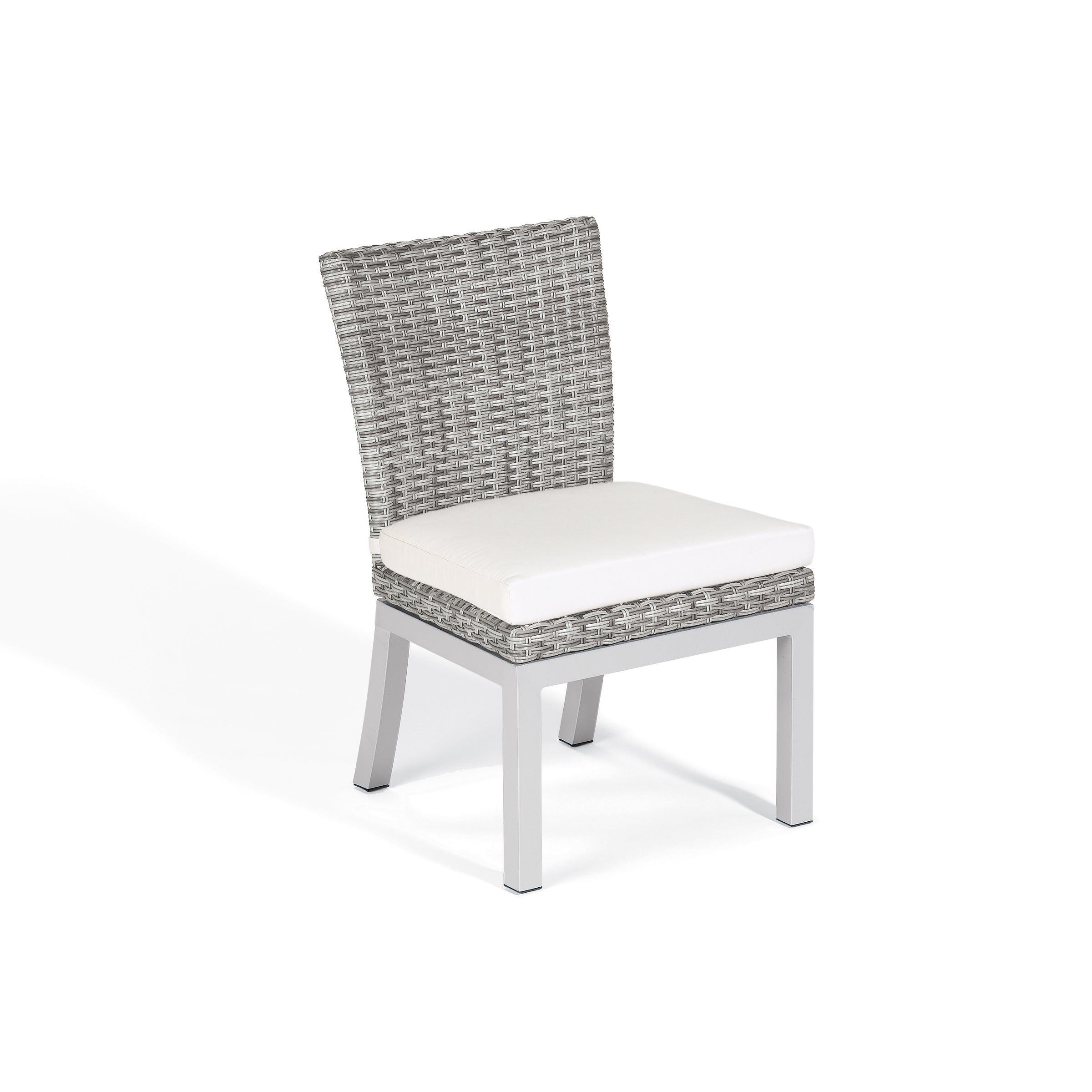 Beau Shop Oxford Garden Travira Woven Side Chair With Powder Coated Aluminum  Legs, Eggshell White Polyester Cushion (Set Of 2)   Free Shipping Today ...