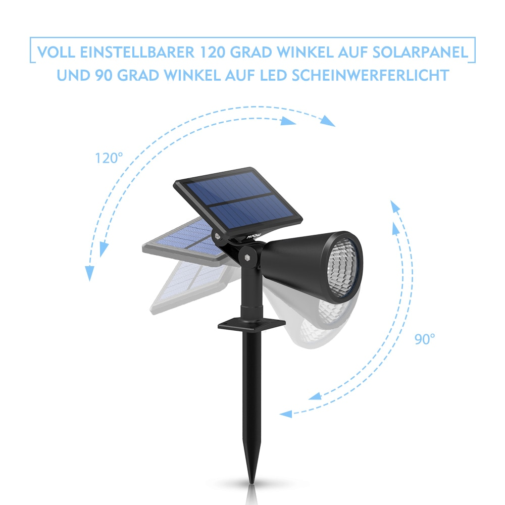 shop solar powered landscape lighting spotlight wall light auto on
