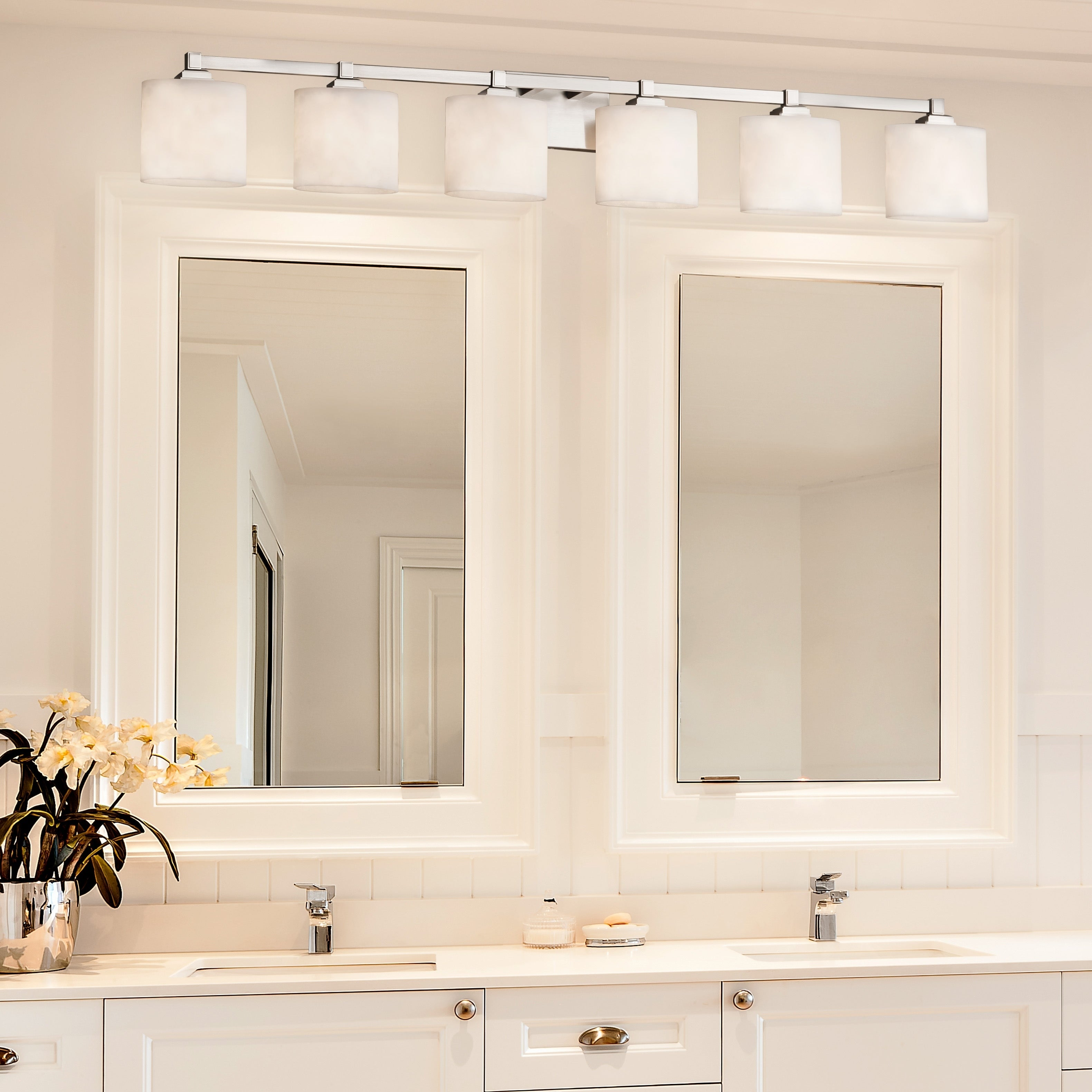 Merveilleux Justice Design Group Clouds Regency 6 Light Brushed Nickel Bath Bar, Clouds  Oval Shade   Free Shipping Today   Overstock   21852053