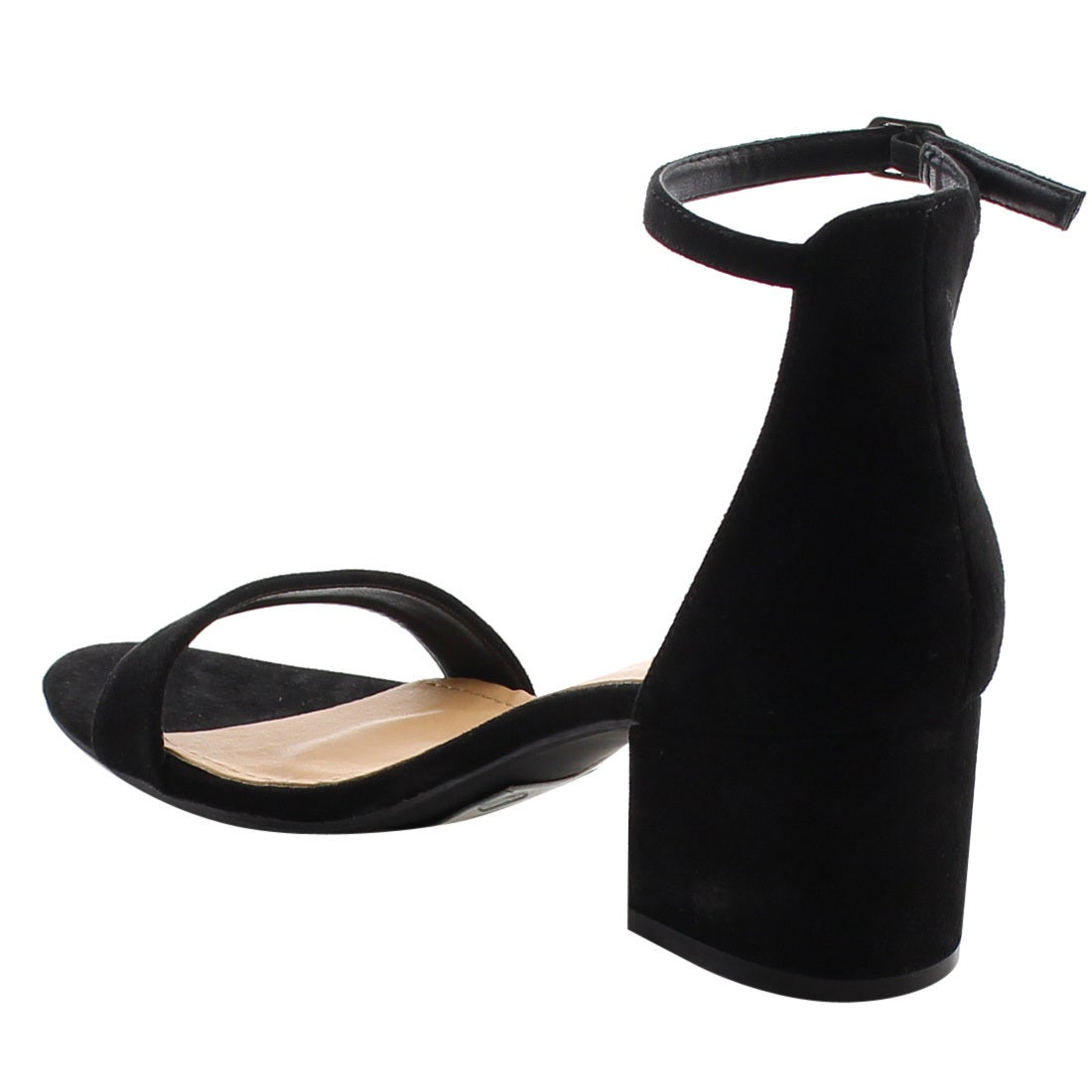 ab954e6cc07 Shop Beston FH76 Women s Single Band Ankle Strap Chunky Heel Dress Sandals  - Free Shipping On Orders Over  45 - Overstock - 15406810