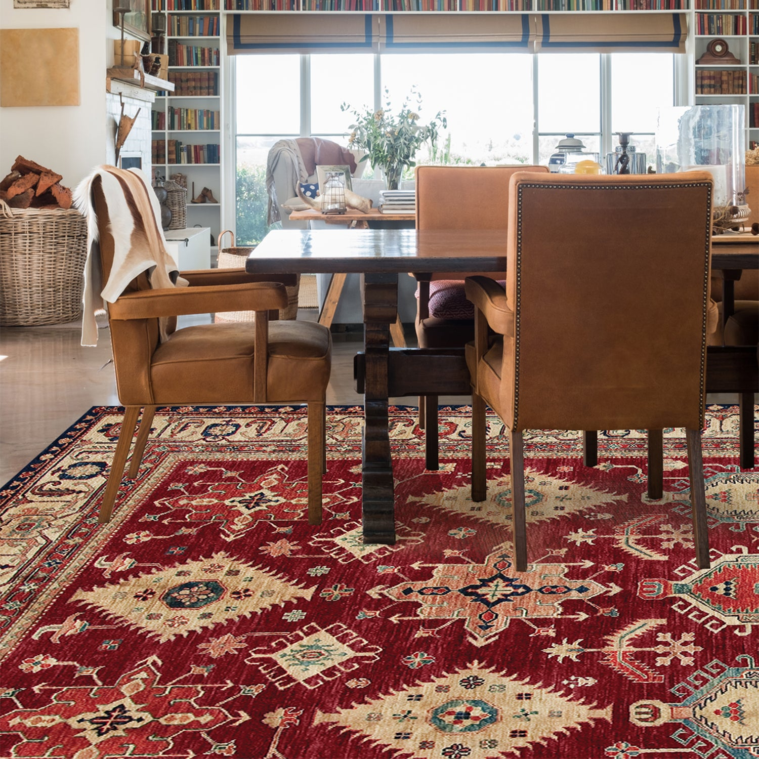 RUGGABLE Washable Indoor/ Outdoor Stain Resistant Pet Area Rug Noor Ruby  (8' x 10') - 8' x 10' - Free Shipping Today - Overstock.com - 21866201