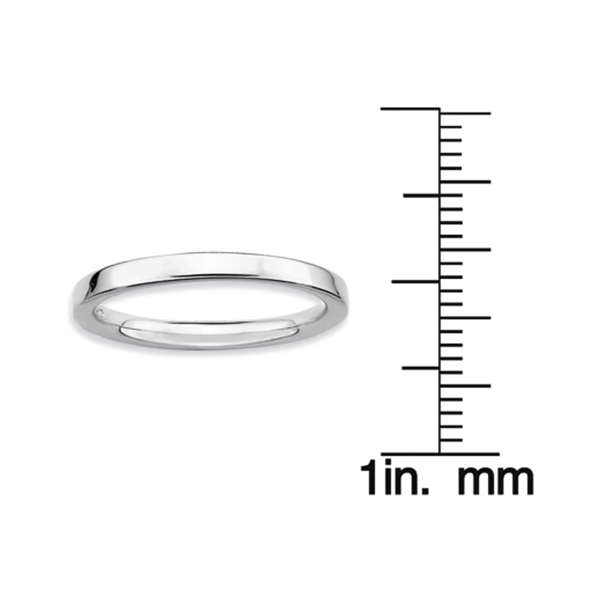 Sterling Silver Affordable Expressions Rhodium Polished Ring