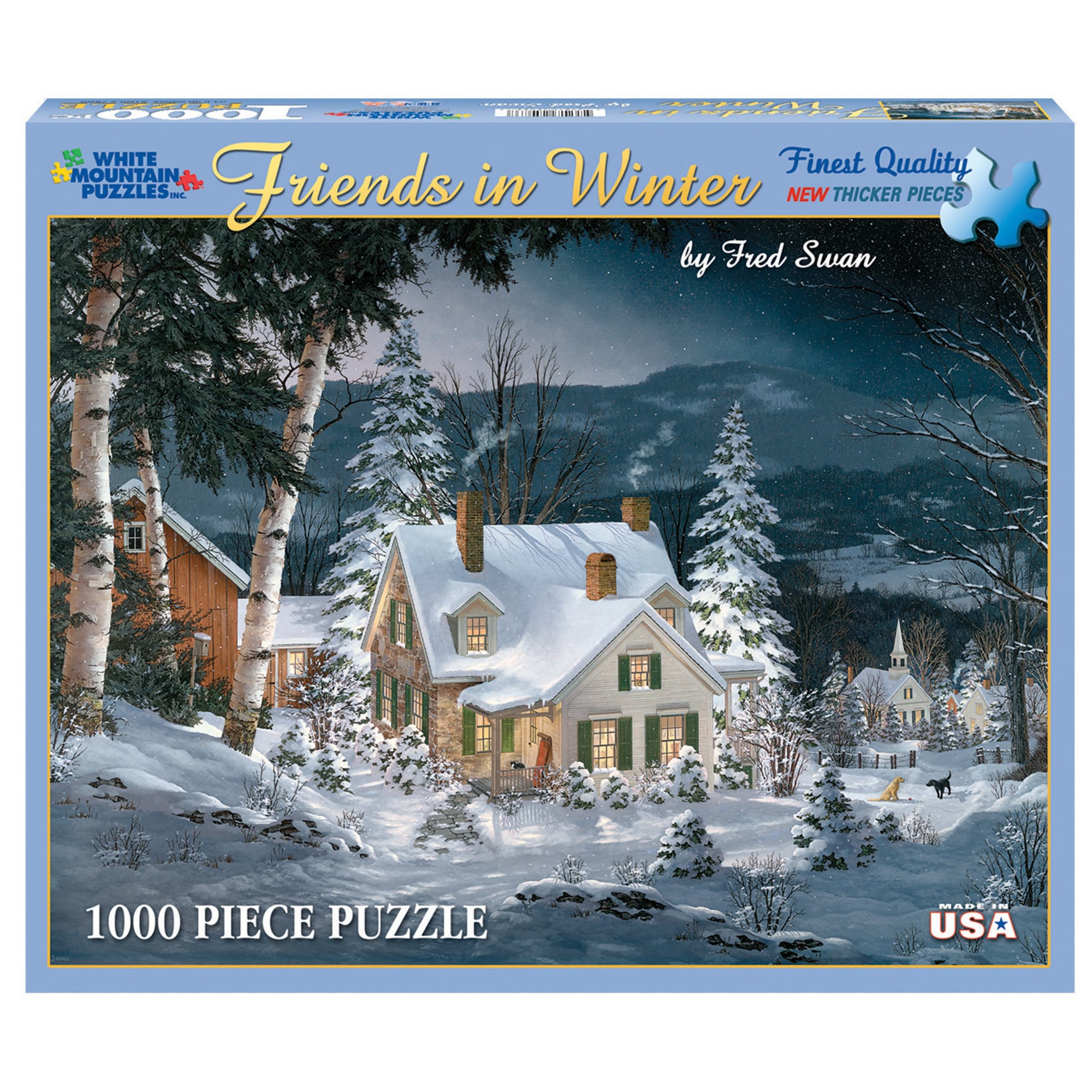 shop white mountain puzzles friends in winter 1000 piece jigsaw