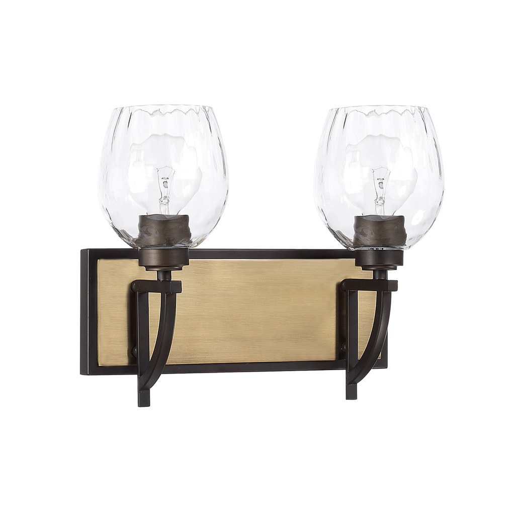 Shop capital lighting cole collection 2 light aged brass olde bronze bath vanity light on sale free shipping today overstock com 15420010