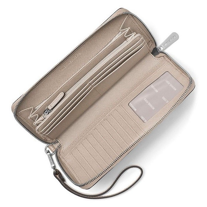 796e53bca3f5 Shop Michael Kors Mercer Travel Continental Cement Travel Wallet - On Sale  - Free Shipping Today - Overstock - 15436715