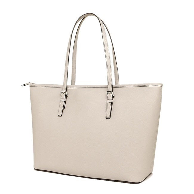 634d339ffee9 Shop Michael Kors Jet Set Travel Medium Top Zip Cement Tote Bag - On Sale -  Free Shipping Today - Overstock - 15436731