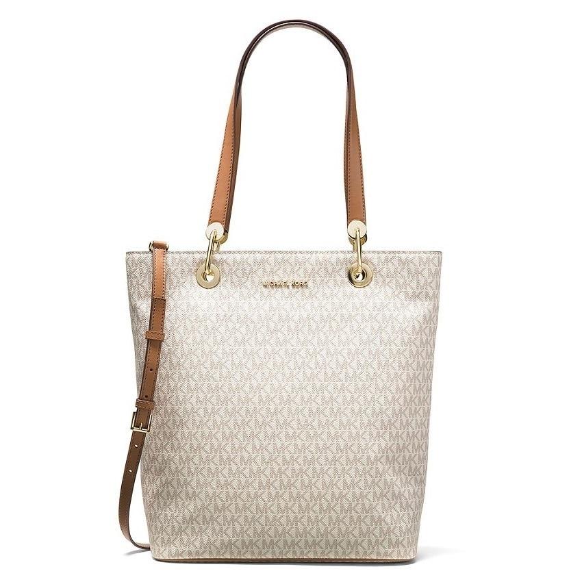 Shop Michael Kors Raven Signature Vanilla Large Shoulder Tote Bag ... e154d38a41f71
