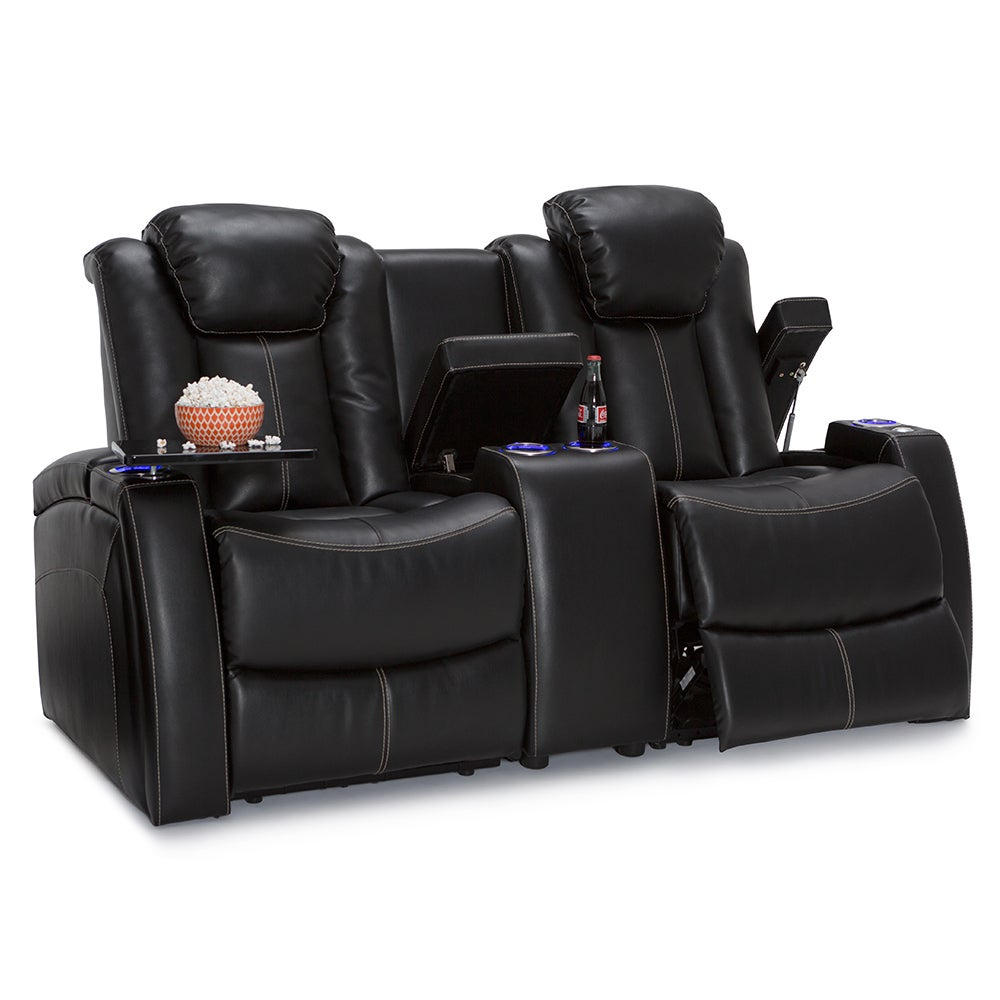 shop seatcraft omega home theater seating leather gel power recline