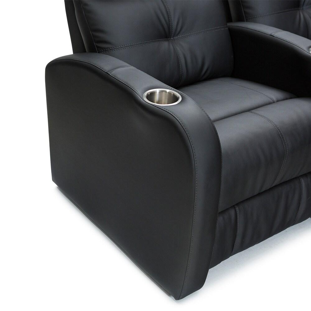shop palliser terra black polyurethane manual recline 3 seat home