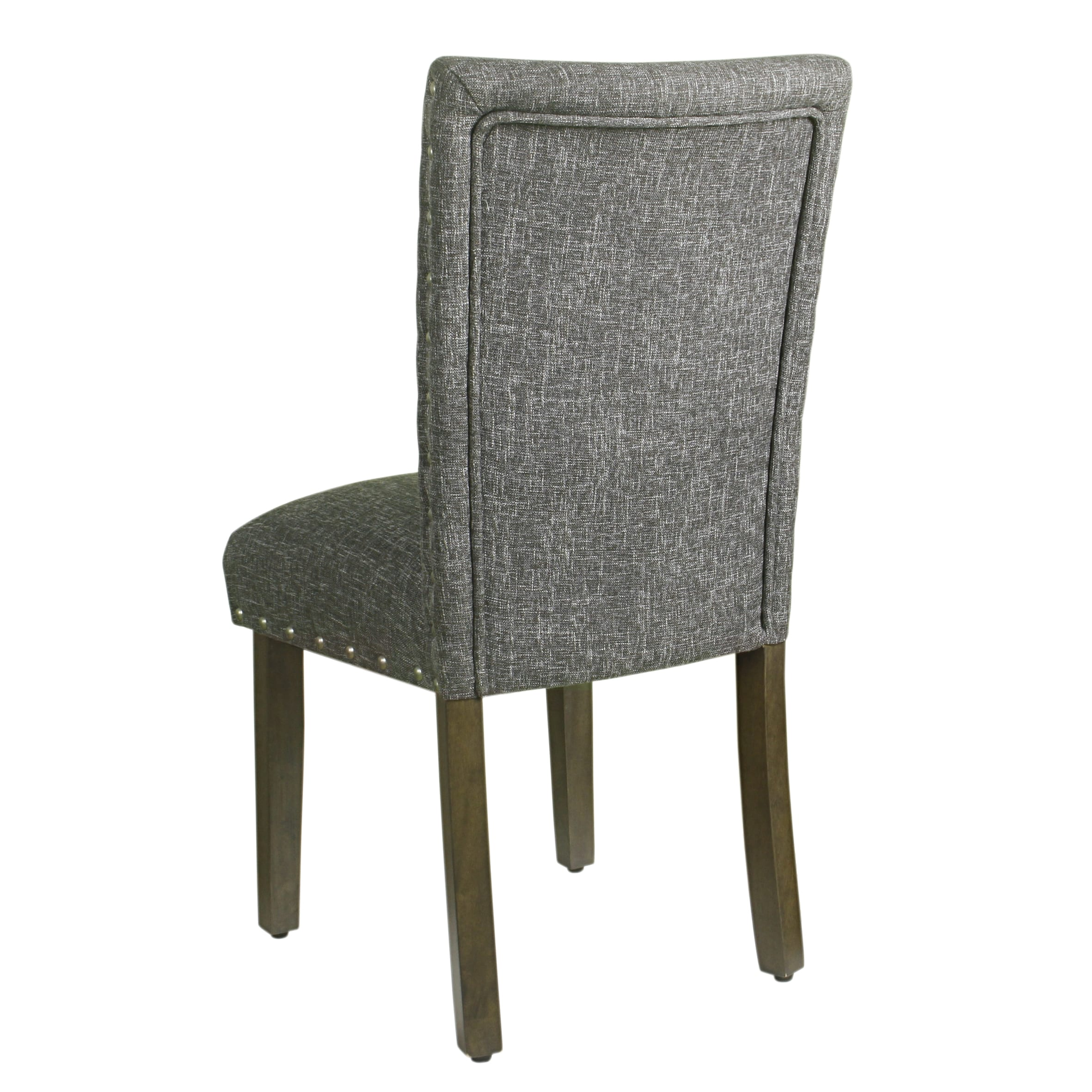 Shop HomePop Classic Parsons Chair With Nailhead Trim   Slate Grey (set Of  2)   On Sale   Free Shipping Today   Overstock.com   15437918