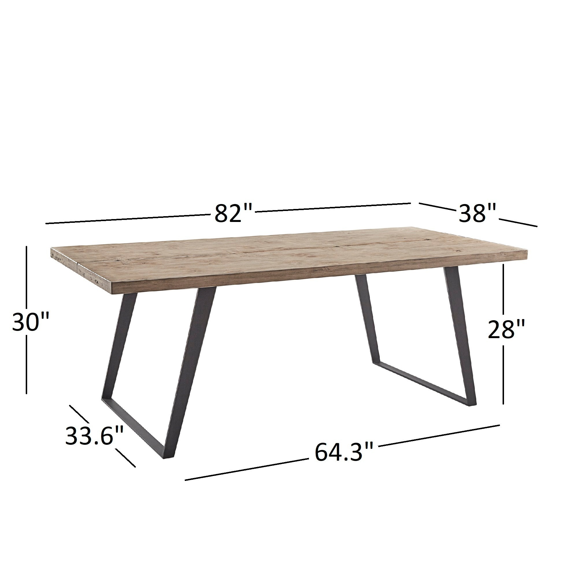 Division Split Top Mixed Media Industrial Wood Dining Table iNSPIRE Q  Modern - Free Shipping Today - Overstock.com - 21887303