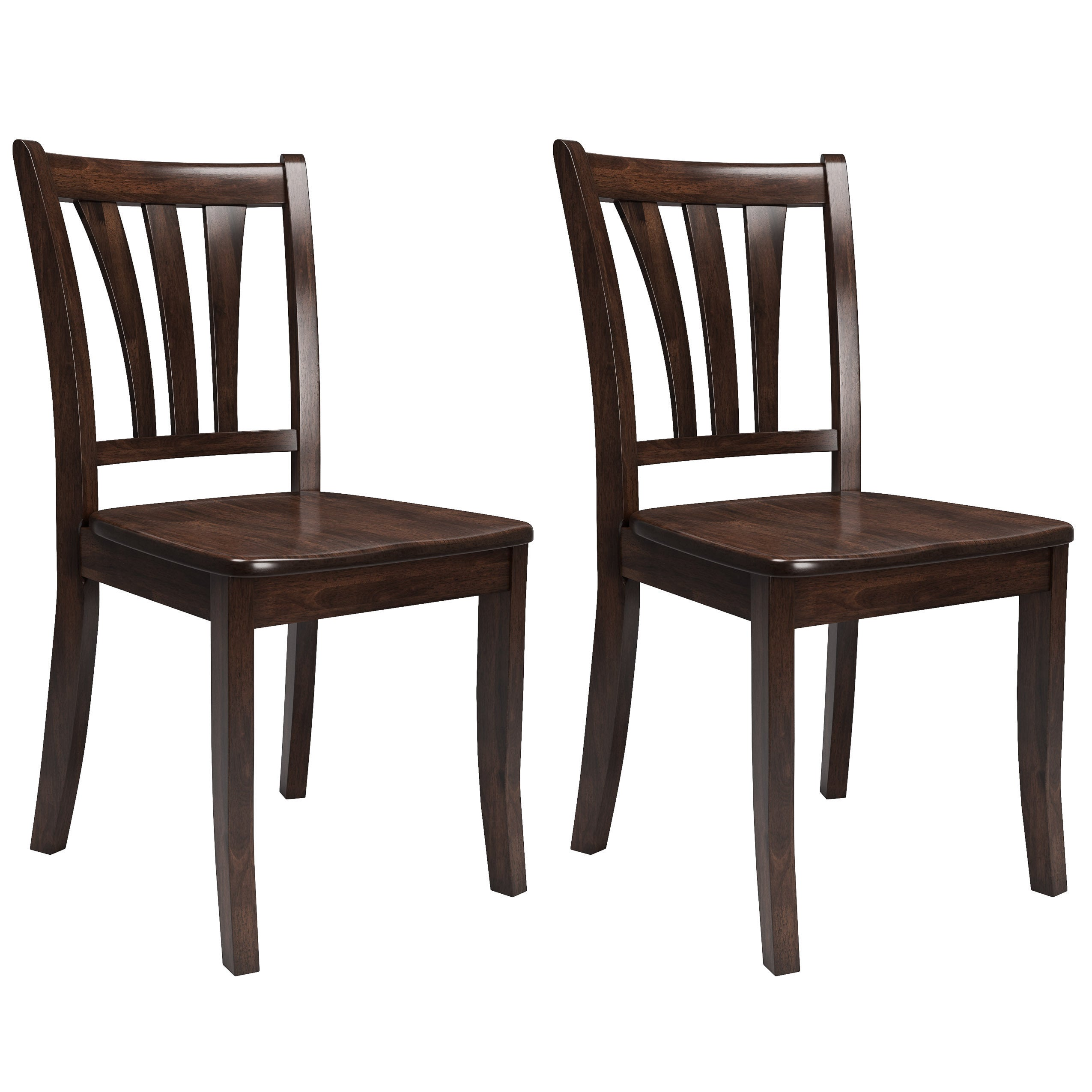 CorLiving Dillon Cappuccino Stained Solid Wood Dining Chairs (Set of 2) -  Free Shipping Today - Overstock - 21888916 0261bf6f84