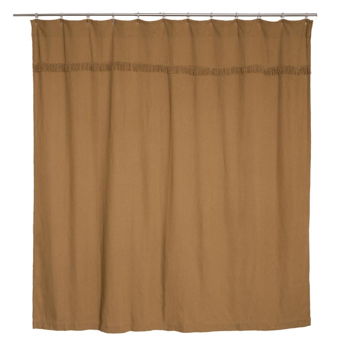 Shop Burlap Natural Shower Curtain
