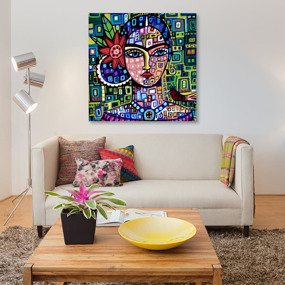 shop icanvas frida by heather galler canvas print on sale free shipping today overstockcom 15439959
