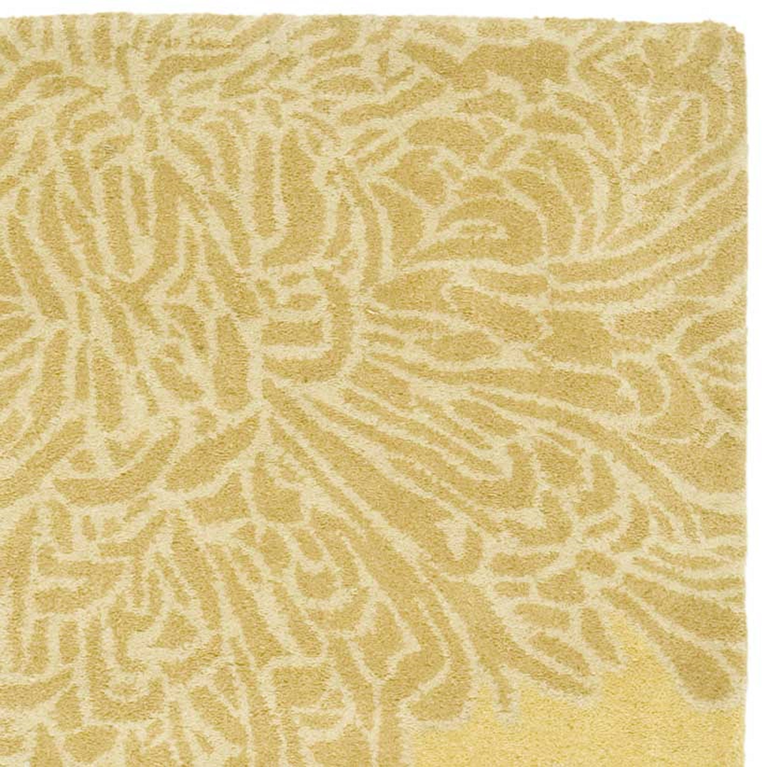 Martha Stewart by Safavieh Chrysanthemum Malted / Yellow Wool Runner ...