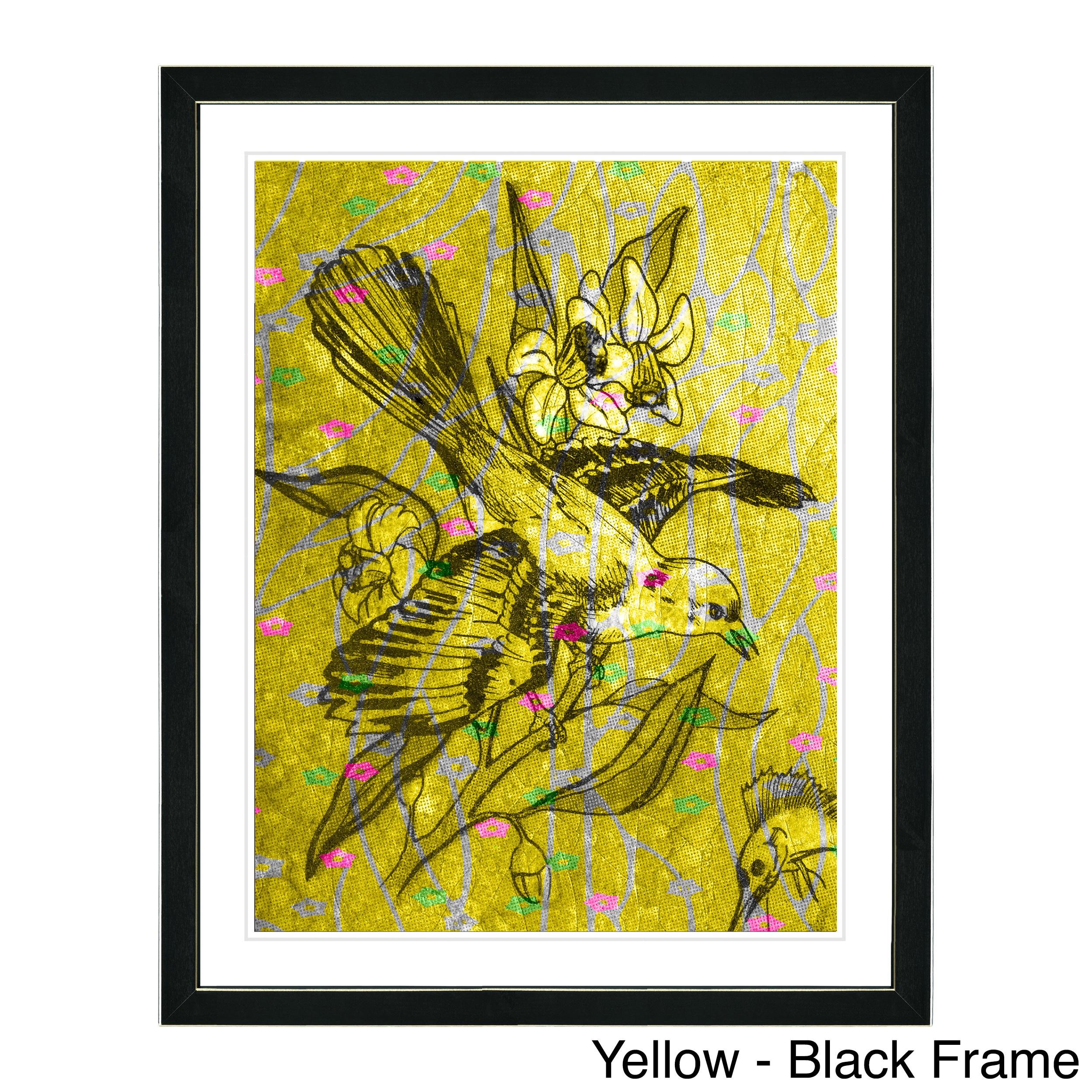 Studio Works Modern Framed Fine Art Bird Still Life Painting ...