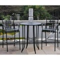 International Caravan Mandalay Outdoor Iron Bar Bistro Set (Set of 3)