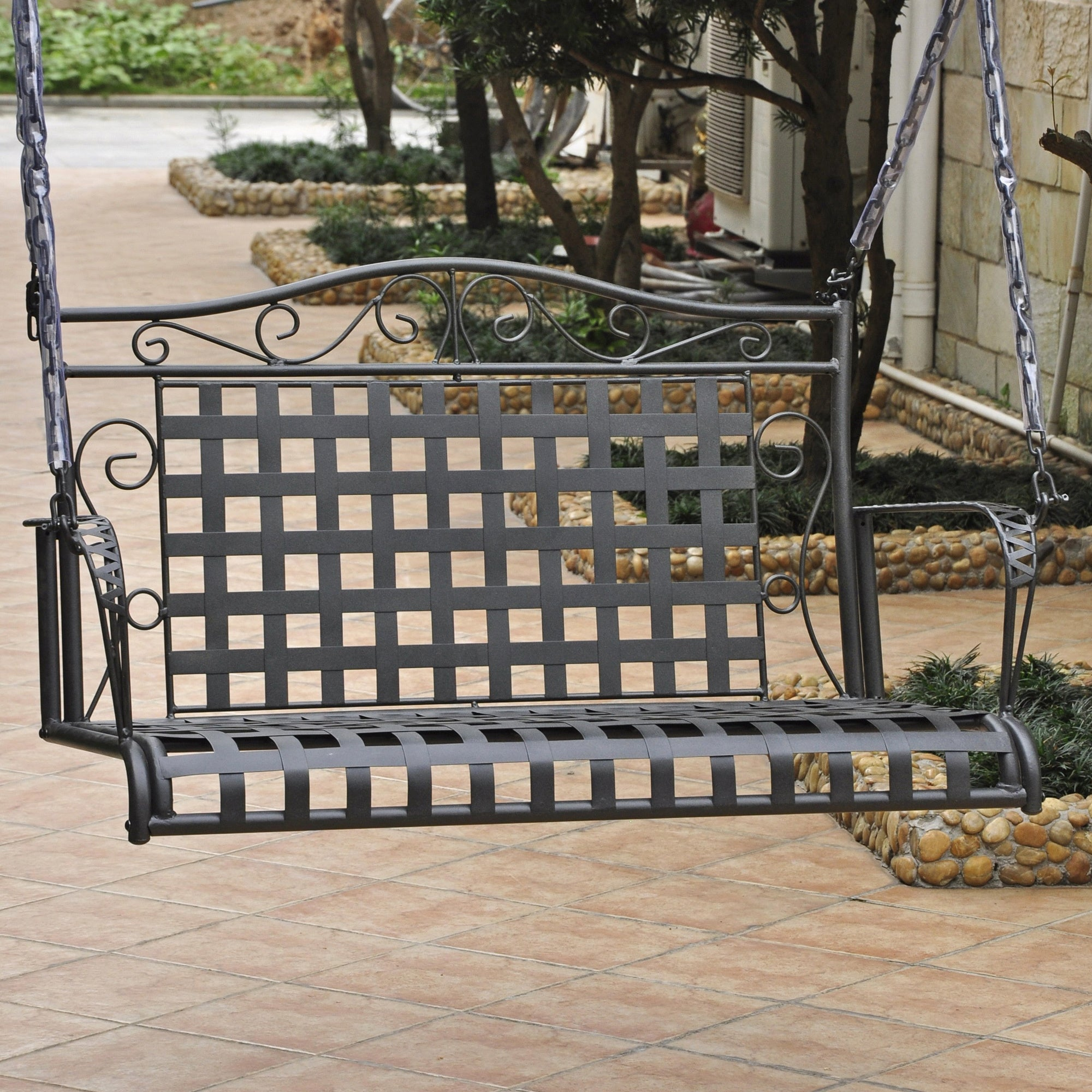 Shop International Caravan Mandalay Iron Patio Swing