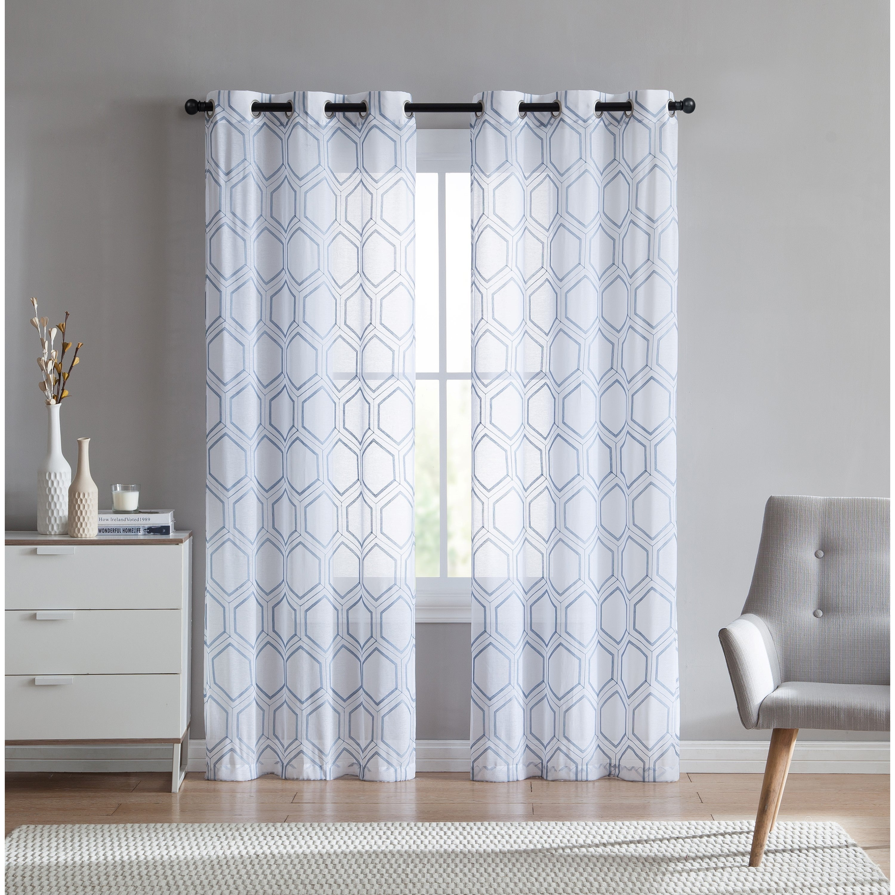 Shop VCNY Home Empire Sheer Curtain Panel Pair
