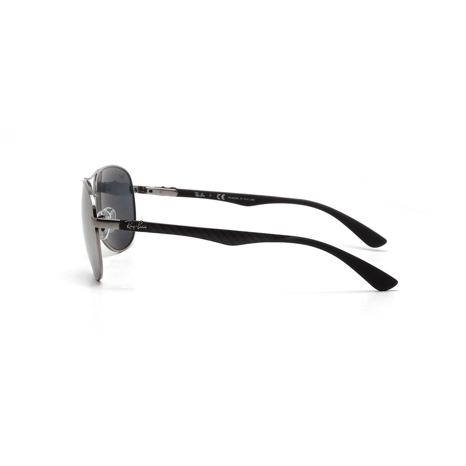 ec0e3e61fc2 Shop Ray-Ban RB8313 004 K6 Gunmetal Frame Polarized Silver Mirror 58mm Lens  Sunglasses - Free Shipping Today - Overstock - 15614447