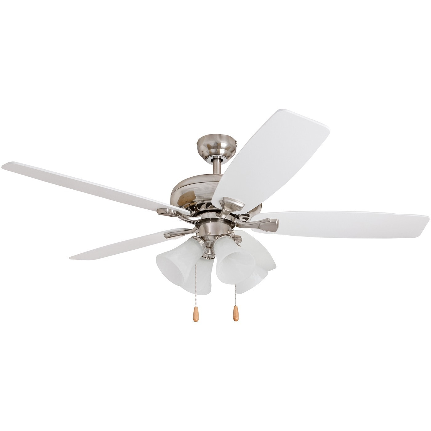 EcoSure 52 inch Narvi Brushed Nickel Fan with White Maple