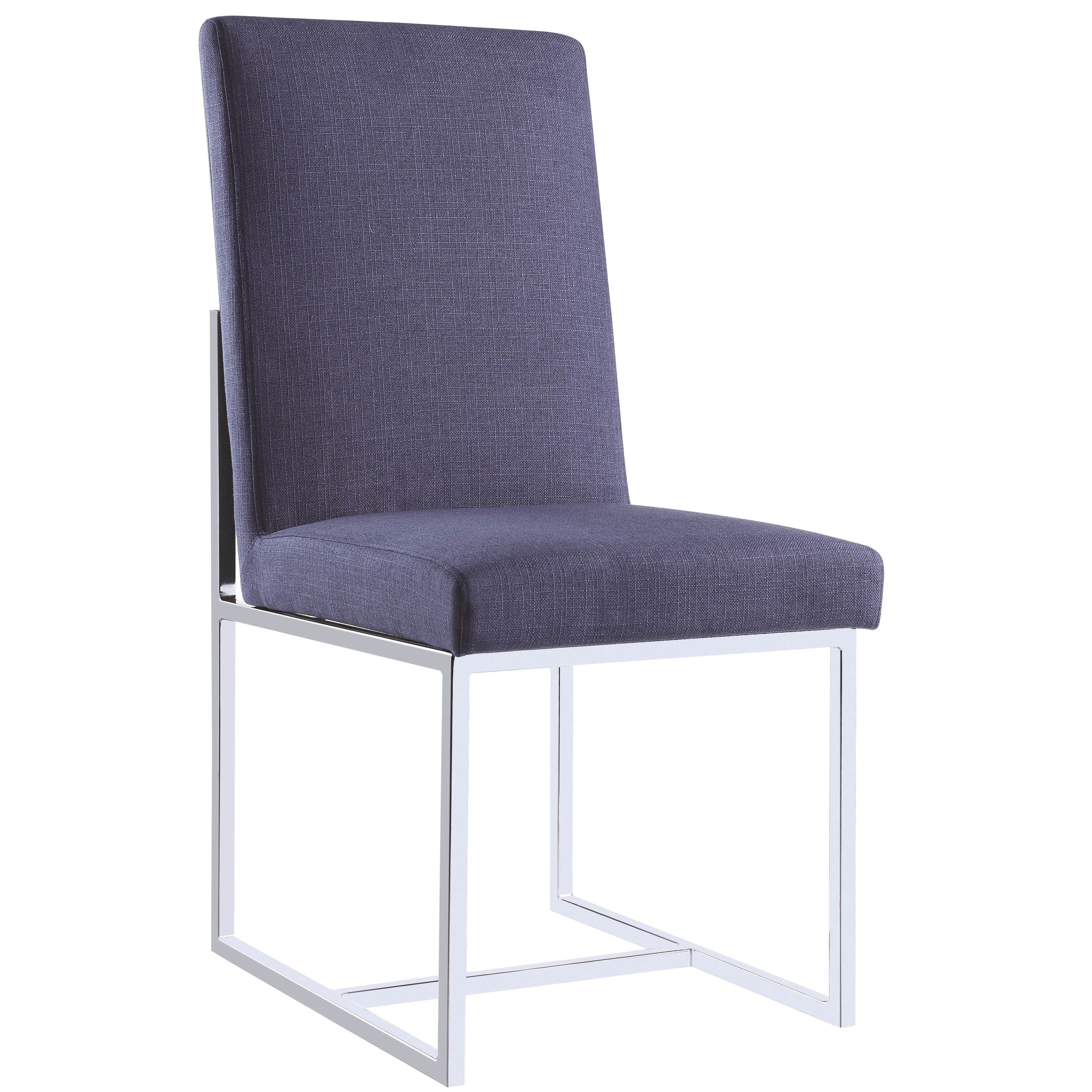 Shop modern floating design blue dining chairs set of 2 free shipping today overstock com 15616610