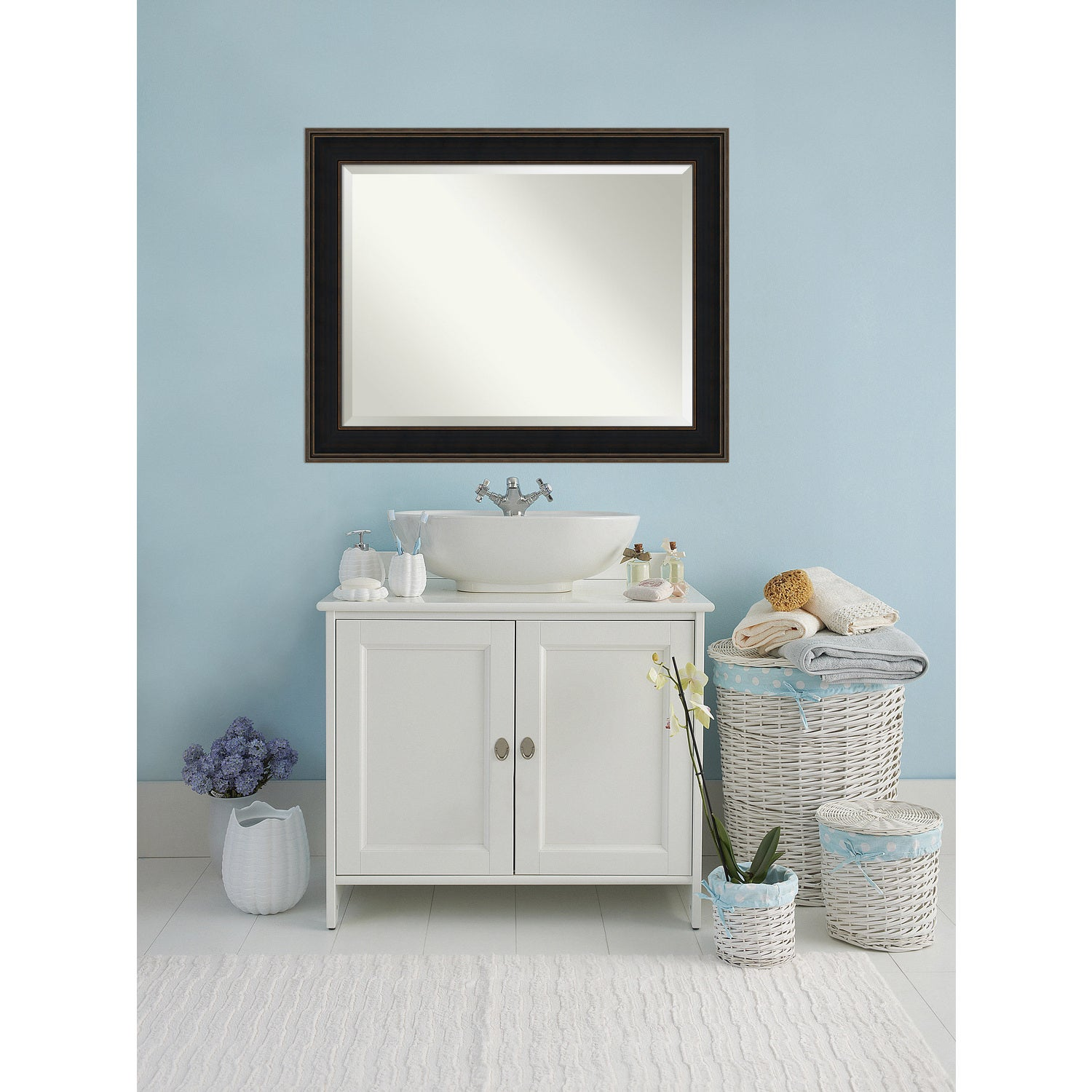 Shop Bathroom Mirror Oversize Large, Mezzanine Espresso 48 x 38-inch ...