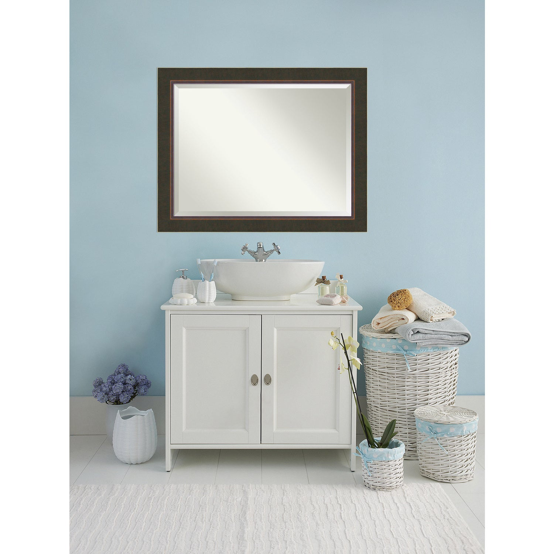 Shop Bathroom Mirror Oversize Large, Milano Bronze 47 x 37-inch - On ...