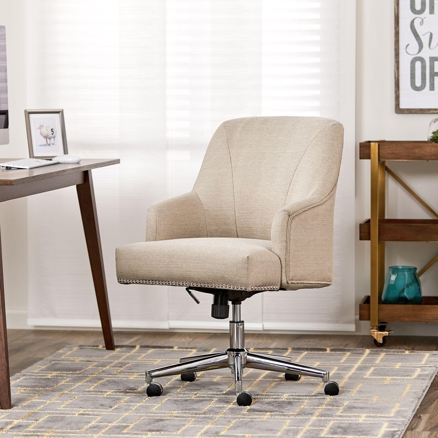 Serta leighton home office chair stoneware beige
