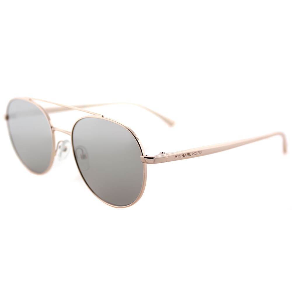 0abf0a6efa Michael Kors MK 1021 11166G Lon Rose Gold Tone Metal Aviator Sunglasses  Silver Mirror Lens