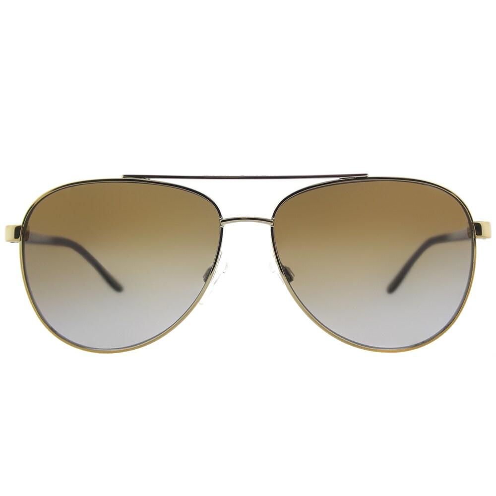 040a5534d5c Shop Michael Kors MK 5007 1044T5 Hvar Gold Tortoise Metal Aviator  Sunglasses Brown Gradient Polarized Lens - Free Shipping Today - Overstock  - 15627646